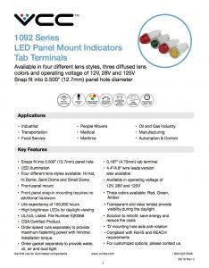 1092 Tab Terminals Data Sheet image