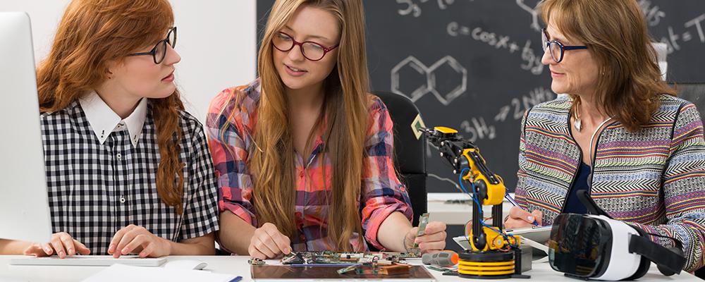 The modern classroom meets modern illuminated equipment