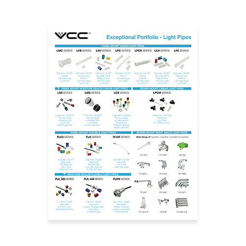 Light Pipe Design Guide - Fundamentals of LED Light Pipes - VCC