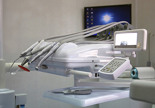 dental machine on table with indicator