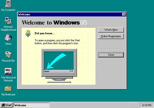 windows 95 gui screenshot