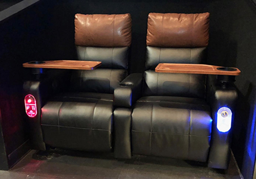 custom light pipe design for movie theater chair call button