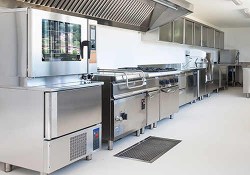 commercial ventless grill in a kitchen